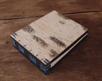 birch bark wedding guest book handmade rustic journal wood book  rustic cabin guestbook  unique wedding gift sketchbook  - made to order
