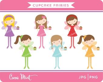 Cupcake Fairies Clip Art