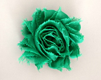 Shabby Flower Hair Clip, Emerald Green