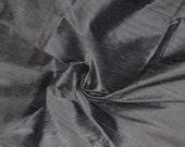 Silk Dupioni in Gray, Fat quarter -D 112