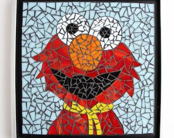 Mosaic Elmo Wall Hanging - Sesame Street Fun for a Kid's Room