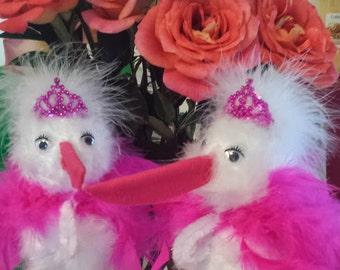 Baby Shower Stork centerpieces
