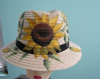 Sunflower Sun Hat for Women