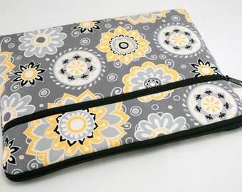 iPad Pro 9.7 Case, iPad air 2 sleeve, iPad Pro Cover, Microsoft Surface Pro 4 Case, Kindle Sleeve, Fabric Tablet Ereader-Melancholy Flowers