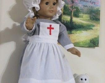 Ships Today -  Clara Barton - 6 Pc American Girl  Doll  Outfit