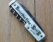 Vintage 40's/50's Benedictine B and B Corkscrew/Bottole Opener Advertisement Pocket Pen Knife