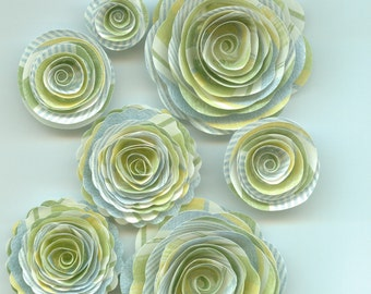 Baby Boy Inspired Handmade Spiral Paper Flowers