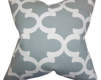 Pillow cover Cushion cover 20x20  gray geometric, other  sizes available