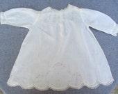 Baby  Batiste Cotton Dress Handmade