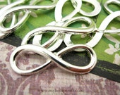 Infinity Connectors Charms, 8pc Antique Silver, 9x25mm