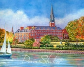 St. Mary's Church, Annapolis, Maryland, near Spa Creek art print by Eleanor Davin