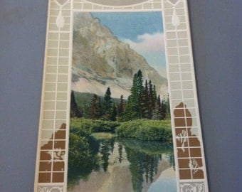 1920s Foot of the Rockies Tinted Colorado Photo