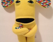 Gilbert the yellow fleece plush monster