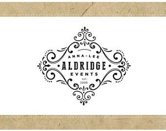 Custom Logo Design - PreDesigned Logo - PreMade Logo - Vector Logo - OOAK Logo - ANNA-LEE Logo Design - Vintage Logo - Antique Logo Design