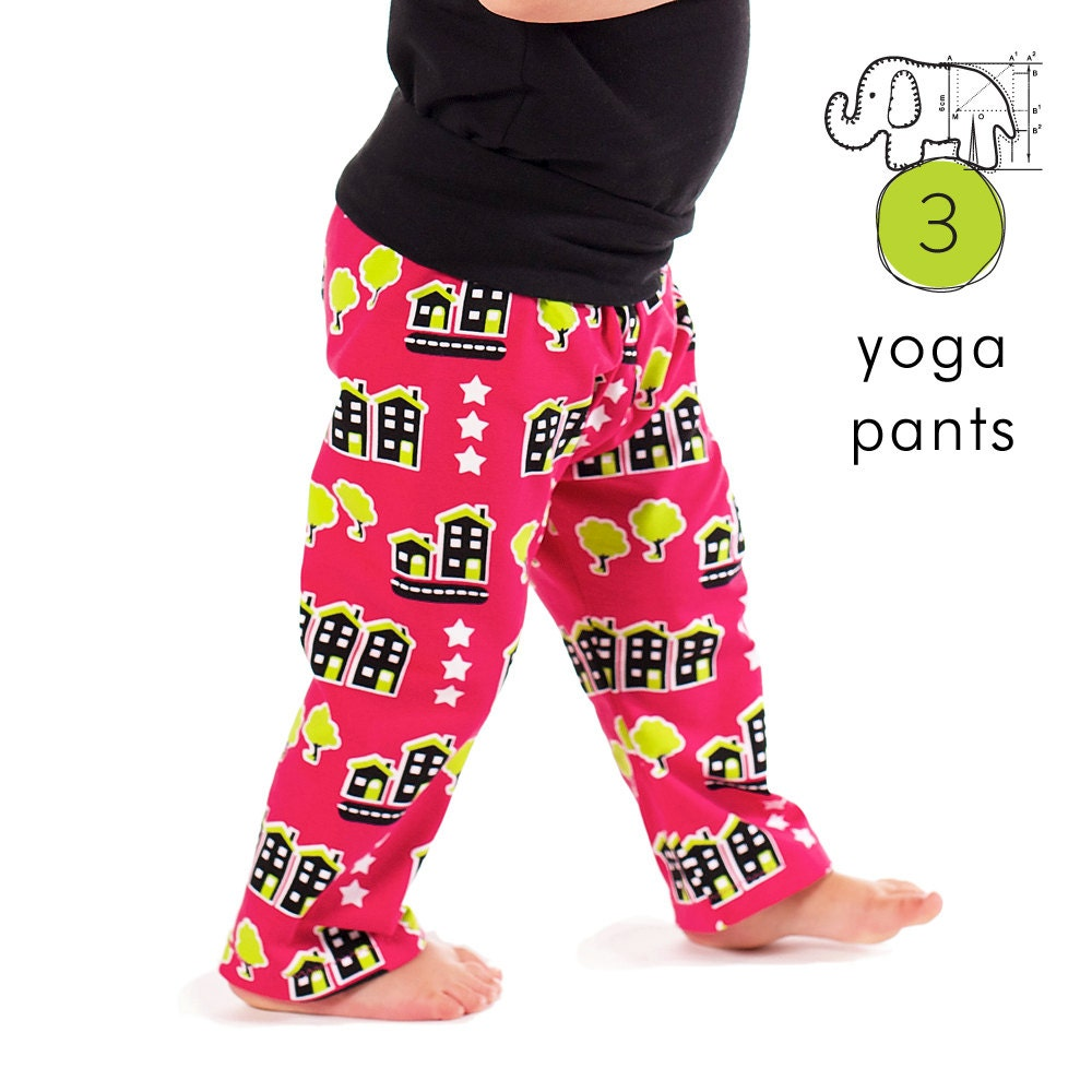 Kids Yoga Pants Pdf Pattern // Photo Tutorial // Preemie-6T