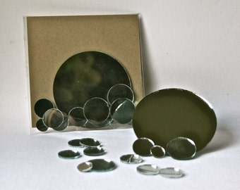 Assorted Round Mirrors for Crafting Embellishment and Decor