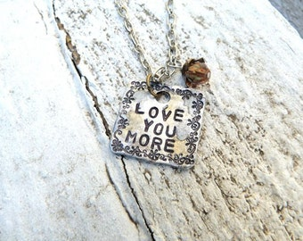 Love Necklace, Love Jewelry, Love You More Necklace