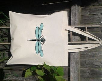 Canvas Tote -Dragonfly Tote - Insect bag