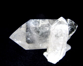 CLEAR QUARTZ CRYSTAL Double Point  Chunk Natural state