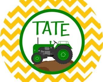 Personalized Tractor John Deere Melamine Plate