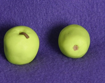 1 green apple  doll food for American Girl dolls