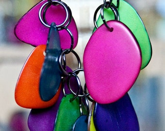 Rainbow necklace- tagua