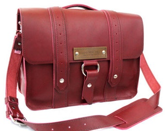 "14"" Burgundy- Red Newtown Voyager Laptop Bag - 14-V-RD-LAP"