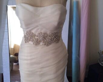 Vera Wang inspiration wedding dress 100%silk organza size 6