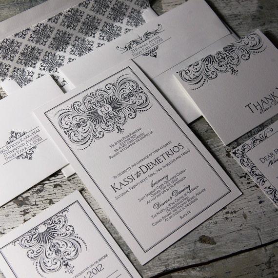 Filigree Wedding Invitation Suite LP-PEN-01 SAMPLE