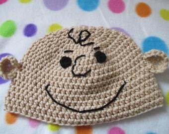 Crochet Charlie Brown inspired hat