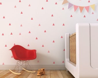 Triangle Wall Decal Little Peaks Wall Decal Kids Wall Decal Baby Nursery Pink Wall Decal. Little Peaks Children Wall Decal