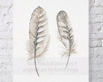 Feather Print 'Collected' 11x14
