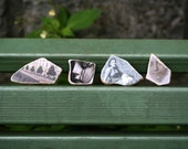 Original Photo Stones Set of Four/ Miniature wall hangings or magnets