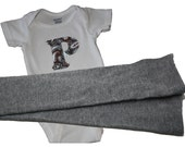 Custom Onesie and Grey Solid Leggings