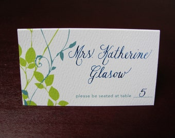 Place card calligraphy for weddings