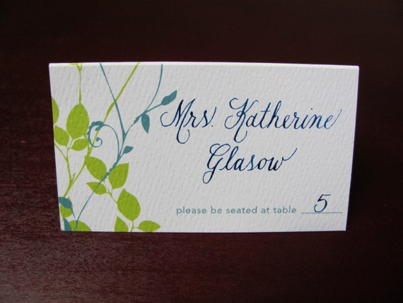 Place Card Calligraphy For Weddings By Gracefulcalligraphy