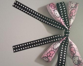 Pink Hello Kitty Heart Hair Bow Clip CLEARANCE