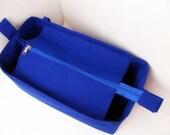 Purse organizer for Louis Vuitton Neverfull MM with Zipper closure- Bag organizer insert in Royal Blue