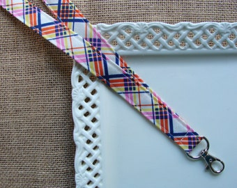 Fabric Lanyard - My Pretty Plaid Lanyard