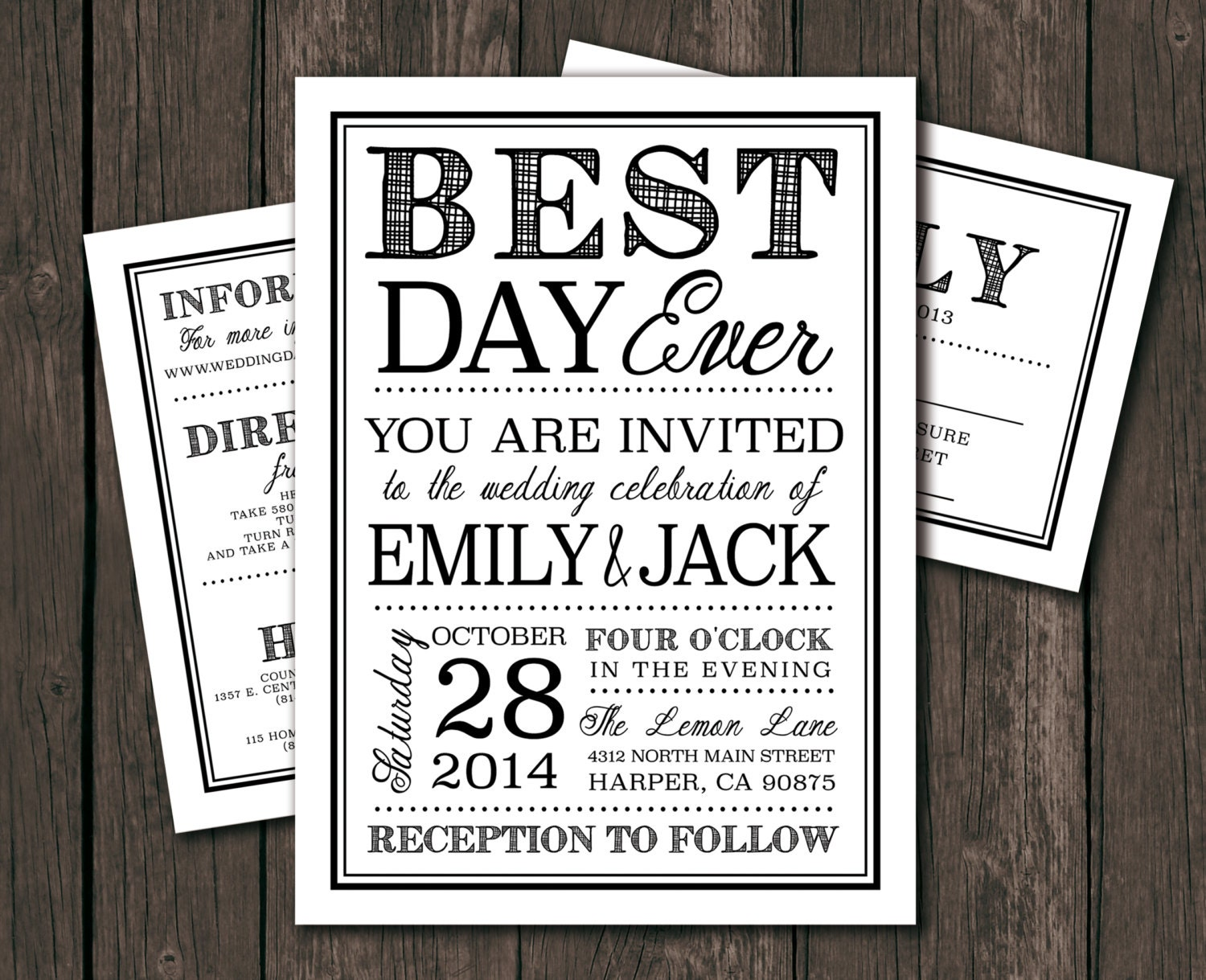 The Best Wedding Invitations: Printable Wedding Invitation Template DIY Wedding