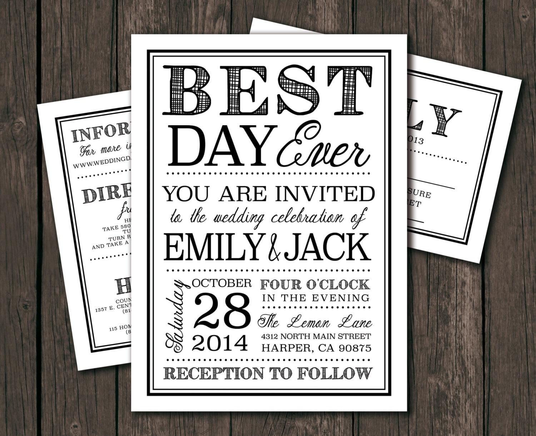 Dyi Wedding Invitations: Printable Wedding Invitation Template DIY Wedding
