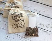 Let Love Grow Wild - Wildflower Seed Sack