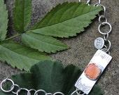 Spiny Oyster and Sterling Silver link bracelet
