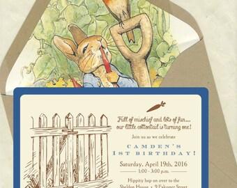 Peter Rabbit Birthday Invitations