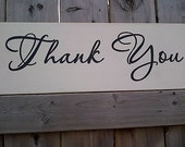 Thank You wooden sign for wedding/special event by Dressingroom5