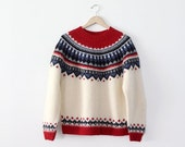 vintage fair isle sweater / folk sweater / nordic sweater - 86Vintage86
