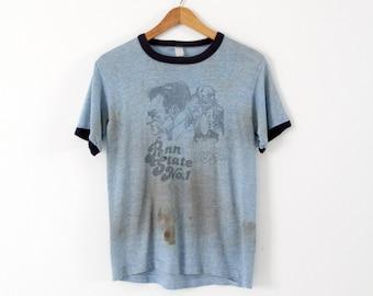 1970s Penn State Nittany Lions t-shirt, vintage football ringer tee