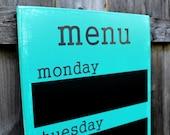 "Menu Board - Chalkboard - 12"" x 36"" Made To Order - Family Weekly Menu Plannner"