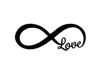 LOVE Infinity Car Decal - Car Decal - Sorority Gift - Bridesmaid Gift