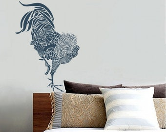Rooster Stencil for Walls - Large, Reusable wall stencil for DIY Home Decor